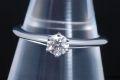 ティファニー ソリティア ダイヤモンド リング PT950 プラチナ ダイヤ 0.27ct E-VVS2-VG【鑑定書付・新品同様】