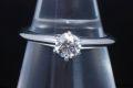 ティファニー ソリティア ダイヤモンド リング PT950 プラチナ ダイヤ 0.35ct H-VS2-VG【鑑定書付】