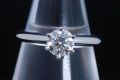 ティファニー ソリティア ダイヤモンド リング PT950 プラチナ ダイヤ 0.57ct E-VS1-VG【正規品・鑑定書付・新品同様】