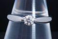 ティファニー ハーモニー ダイヤモンド リング PT950 プラチナ ダイヤ 0.23ct E-VS1-EX【正規品・鑑定書付・新品同様】