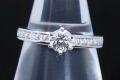 ティファニー ソリティア チャネルセッティング ダイヤモンド バンドリング PT950 ダイヤ 0.36ct E-VS1-3EX【鑑付・新品同様】