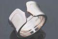 カルティエ 2C ロゴリング C2リング LM K18WG ホワイトゴールド #49 B4040600【美品】