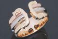 カルティエ 2C ロゴリング C2リング LM K18 スリーカラー #50 B4026200【ギャラ付・美品】