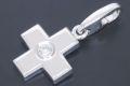 カルティエ クロス ダイヤモンド チャーム ペンダント K18WG ホワイトゴールド 1Pダイヤ B3007700【ギャラ付・美品】