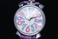ガガミラノ 5020.7 マヌアーレ 40MM ホワイトシェル ユニセックス クォーツ【新品同様品】