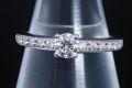 ブルガリ グリフ ソリテール ダイヤモンド リング PT950 プラチナ ダイヤ0.31ct F-VVS1-G AN853565【美品・鑑定書付】