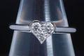 ティファニー センチメンタル ダイヤモンド ハート リング PT950 プラチナ ダイヤ 0.19ct #11.5【正規品・新品同様】