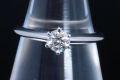 ティファニー ソリティア ダイヤモンド リング PT950 プラチナ ダイヤ 0.30ct H-VS1-3EX【正規品・鑑定書付】
