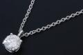 ティファニー ソリティア ダイヤモンド ペンダント ネックレス PT950 プラチナ ダイヤ約0.35ct【新品同様】