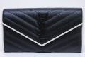 サンローラン YSL モノグラム フラップウォレット 二つ折 長財布 ブラック ホワイト 372264【新品同様】☆