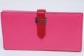 エルメス ベアン デュプリ 三つ折長財布 シェーブル ピンク シルバー金具 『Q』刻印