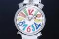 ガガミラノ 5020.1 マヌアーレ 40MM ホワイトシェル ユニセックス SS/レザー クォーツ【新品】