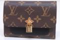 ヴィトン モノグラム ポルトフォイユ フラワー コンパクト 三つ折り財布 ノワール M62578【新品】