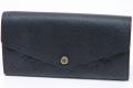 ヴィトン モノグラム・アンプラント ポルトフォイユ・サラ 二つ折 長財布 ノワール M61182【新品】