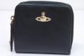 ヴィヴィアンウエストウッド ORBロゴ 二つ折り ラウンドファスナー財布 321408 ブラック【新品】☆