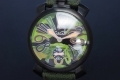 ガガミラノ 5012.5 マヌアーレ 48MM メンズ PVD/ナイロン 手巻き グリーン迷彩 限定500本【新品・正規品】