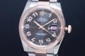ロレックス 116201 オイスターパーペチュアル デイトジャスト 36 メンズ オートマ SS/K18RG コンセントリック黒