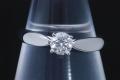 ティファニー ハーモニー ダイヤモンド リング PT950 プラチナ ダイヤ0.32ct D-VS1-3EX【正規品・ティファニー鑑定書付】