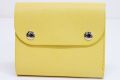 FARO ファーロ フラップショートウォレット ボレロレザー 三つ折り財布 イエロー FRO402228【未使用】☆