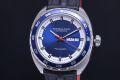 ハミルトン H35405941 パンユーロ メンズ SS/革 デイデイト オートマ 裏スケ H354050 ブルー文字盤【正規・新品】
