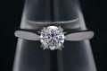 ハリーウィンストン ラウンド ソリティア リング PT950 プラチナ ダイヤモンド0.50ct D-VS2-EX【新品同様】