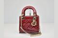 ディオール ミニ Lady Dior レディディオール パテントカーフスキン ハンドバッグ チェーンショルダー M0505OVRB【新品同様】