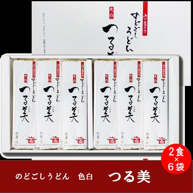 【NU-30】手延べのどごしうどん「つる美」 (80g×2束)×6袋