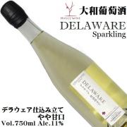 大和葡萄酒 ハギースパーク デラウェア スパークリング 仕込み立て 750ml[日本ワイン]