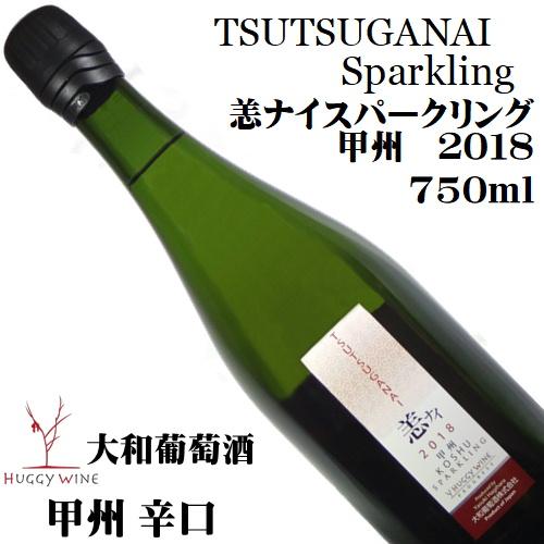 大和葡萄酒 ハギースパーク TSUYSUGANAI 恙ナイスパークリング 甲州辛口 2018 750ml