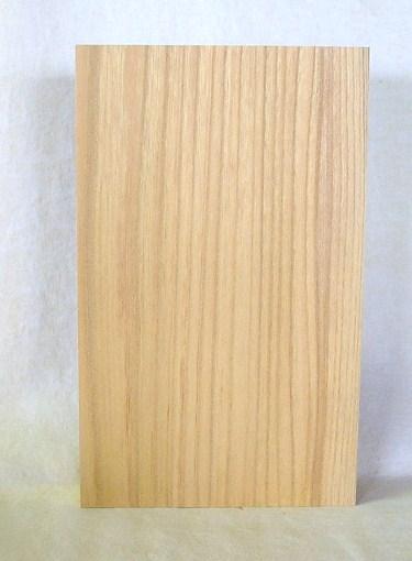 看板、表札素材 KE-71ケヤキ板 295×180×43mm