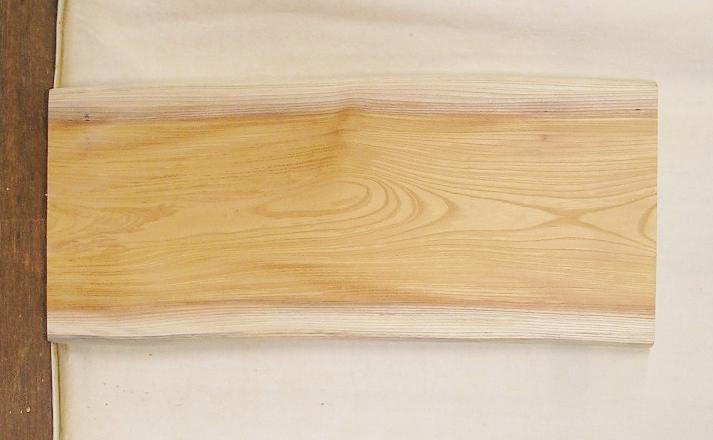 【送料・手数料無料】 山成林業 小型無垢一枚板 KD-537 ケヤキ 小型看板に最適