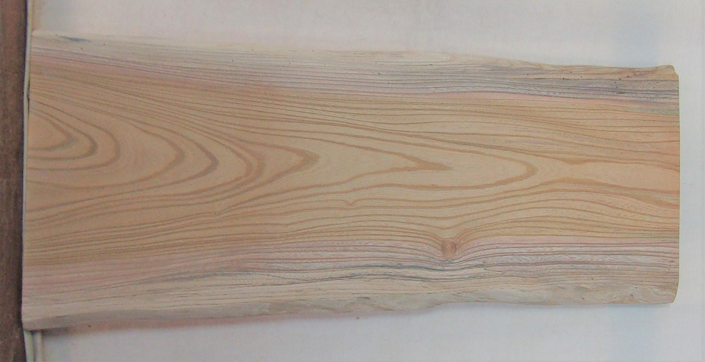 【送料・手数料無料】 山成林業 小型無垢一枚板 KD-585 ケヤキ 小型看板に最適