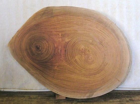 看板 椅子 花台に最適 KE-6 けやきの楕円輪切り材 460×350×60ミリ