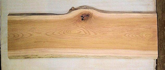 【ケヤキ素材専門店】 山成林業 中型無垢一枚板 KC-268 ケヤキ 中型看板 ベンチに最適