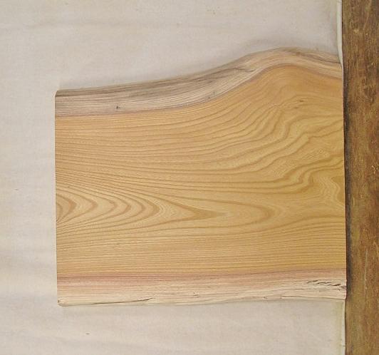 【送料・手数料無料】 山成林業 小型無垢一枚板 KD-386 ケヤキ 小型看板に最適