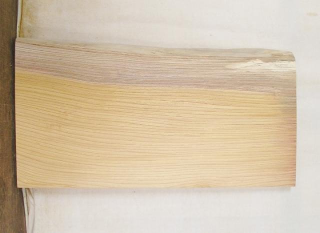 【送料・手数料無料】 山成林業 3辺カット無垢一枚板 KD-426 ケヤキ 小型看板に最適