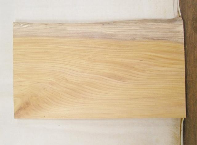 【送料・手数料無料】 山成林業 3辺カット無垢一枚板 KD-425 ケヤキ 小型看板に最適