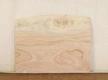 【送料・手数料無料】 3辺カット無垢一枚板 ケヤキ KE-461 小型看板に最適