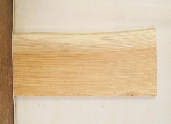 【送料・手数料無料】 3辺カット無垢一枚板 ケヤキ KE-464 小型看板に最適