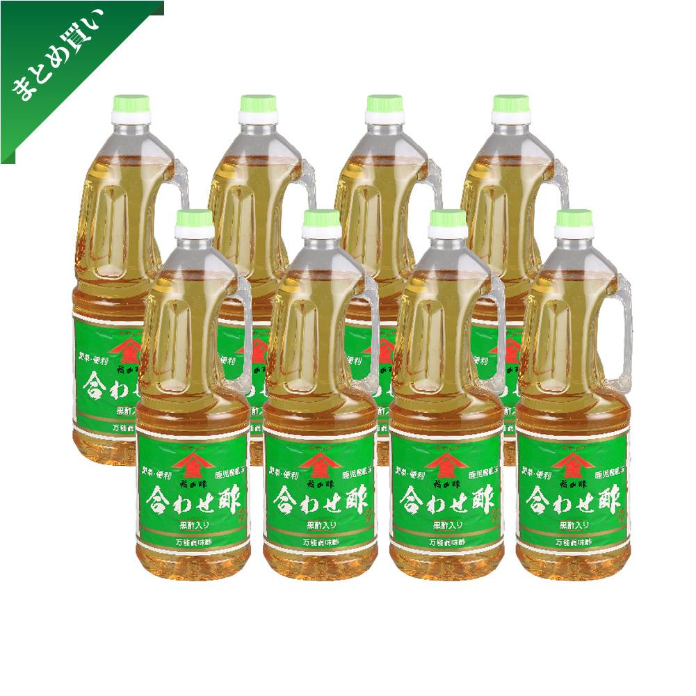 【まとめ買い】合わせ酢 黒酢入り 1800ml ペットボトル 8本セット