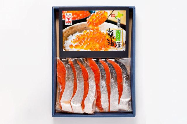 いくらと紅鮭のセット