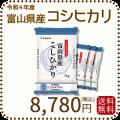 新米【令和2年産】【送料無料】富山県産コシヒカリ 白米 20kg(5kg×4袋)
