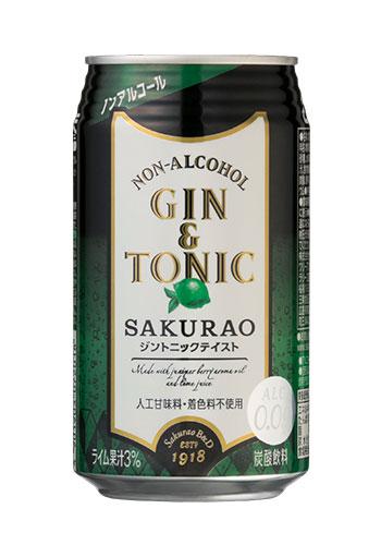 ノンアルコールジントニック SAKURAO 350ml