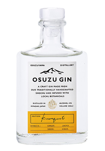OSUZU GIN Kumquat(金柑) 200ml 尾鈴山蒸留所 クラフトジン