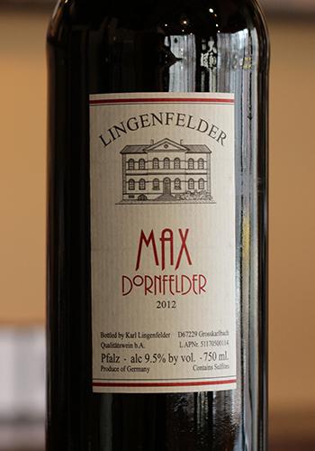 リンゲンフェルダー マックス ドルンフェルダー QBA (Lingenfelder MAX Dornfelder QBA)