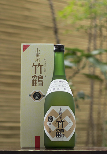 小笹屋竹鶴(おざさやたけつる) 生もと(きもと) 純米原酒 無濾過 木桶仕込