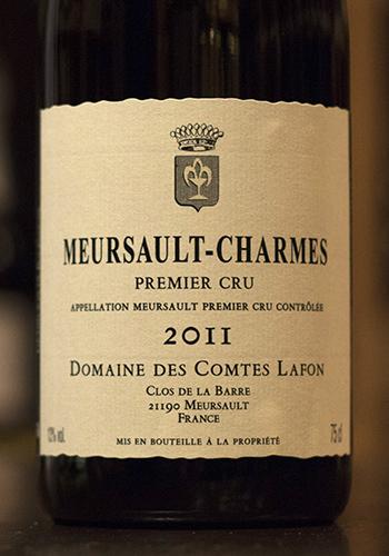 コント・ラフォン ムルソー・シャルム 1er 2011(Domaine des Comtes Lafon Meursault-Chrmes) 750ml