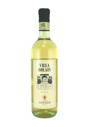 サンターディ ヴィッラ・ソライス ヴェルメンティーノ・ディ・サルデーニャ(Santadi Villa Solais Vermentino di Sardegna) 750ml