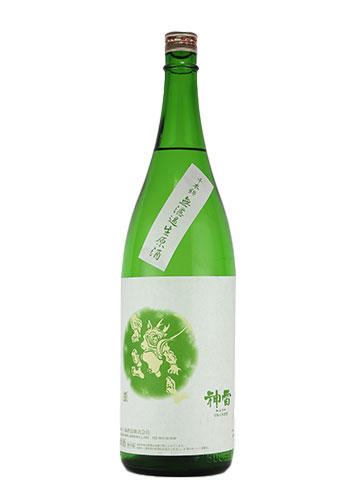 【R2BY新酒】神雷(しんらい) 純米酒 千本錦(せんぼんにしき) 無濾過生原酒 1800ml