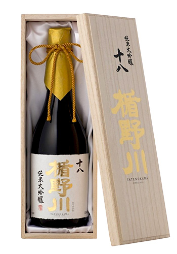 楯野川(たてのかわ)  純米大吟醸 十八(じゅうはち) 720ml